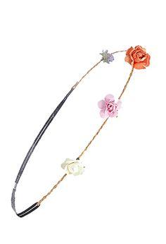 Paper Floral Raffia Headband | FOREVER21 - 1000098712