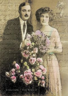 vintage photo antique photo altered art