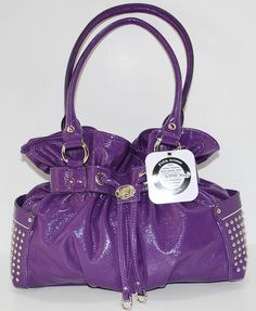 "KATHY VAN ZEELAND  Bag ""FUN CLUB"" Purse Handbag Sac Bolsa Purple NWT #KathyVanZeeland"