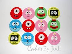 MONSTER SHOW Edible Fondant Cupcake/Cookie Toppers Fondant Cupcakes, Cupcake Cookies, Cupcake Toppers, Cupcake Ideas, Monster Cupcakes, Fondant Decorations, Love Cake, Stuff To Do, Sweet Treats