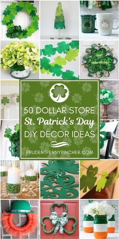 50 Dollar Store St Patrick's Day Decor Ideas - DIY Gartendekor Dollar speichert St. Patrick's Day Diy, St Patrick's Day Crafts, Holiday Crafts, Party Crafts, Diy St Patricks Day Decor, Saint Patrick's Day, St Patrick's Day Decorations, St Patrick Decorations, St Paddys Day