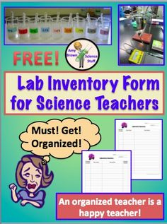 FREE Lab Inventory Form for Science Teachers.
