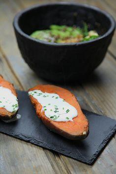 Salade d'automne et sa patate douce au four