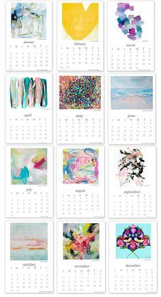 Organization Life 2016 Calendar - 9 Free Printable Calendars to Stay Organized in Free Printable Art, Free Printable Calendar, Printable Designs, Printable Planner, Free Printables, Graphic Design Calendar, Planners, Art Calendar, Calendar Ideas
