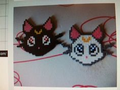 Gatos sailor moon en hama beads