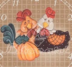 Silvia, pinturas e riscos.: Risco galinhas