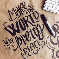 Lettering Daily | Make the world a pretty place! ✨ #lettering...