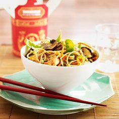 This speedy, slurp-able supper will give the local Peking Palace some healthy competition. Crammed with crisp, just-picked veggies like snow peas, cabbage, and carrots, it's Asian made nutritious  and MSG free