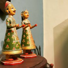 Hand painted Tanjavur dolls.