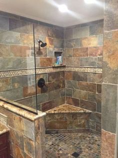 50+ Best Rock Shower Ideas - Vrogue.co Rustic Bathroom Designs, Rustic Bathrooms, Dream Bathrooms, Bathroom Ideas, Shower Ideas, Bathroom Showers, Bathroom Renovations, Bathroom Stuff, Bathroom Colors