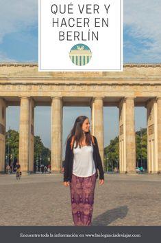 Berlín es una ciudad que sorprende. Aquí puedes leer qué ver y hacer en la capital alemana. #berlin #viajaraberlin #viajaraalemania #alemania #puertadebrandenburgo #lugaresquevisitar #viajar Checkpoint Charlie, Germany Travel, Berlin Wall, Cities