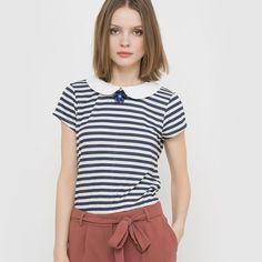 MADEMOISELLE R Embellished Collar Breton T-Shirt