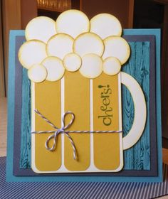 Hey Stampers, This HUGE card is one that I made to give to my hubby's best friend Boyd for his...