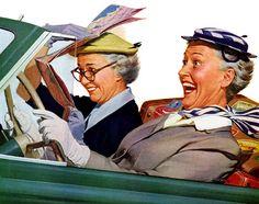 Abuelitas en coche