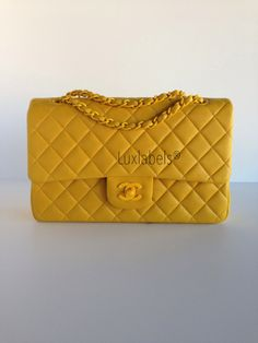YELLOW CHANEL SHOULDER BAG - A bright Chanel bag for chic style every season.