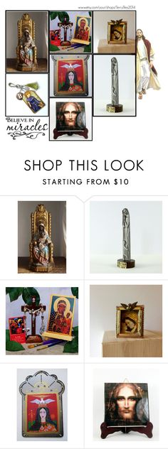 Religious Art on Etsy by TerryTiles2014 - Volume 60 by terrytiles2014 on Polyvore featuring interior, interiors, interior design, Casa, home decor and interior decorating