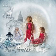 New Kit *Snow Flurries* by Louise LAudet  http://www.bazarascrap.fr/fr/louisel/566-snow-flurries.html Use with Permission Iga Logan photography https://www.facebook.com/Iga-Logan-photography-249966761708606/?fref=ts