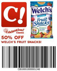 50% off Welch's Fruit Snacks at Celebration Cinema