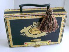 Partagas Cigar Box Purse - Handbag - Butterflies though not a fan of the tassel