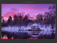 Duckpond, Virginia Tech. Always love going there! <3 Even though I don't like the snow.