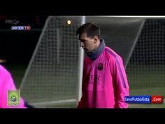 Discusión entre Messi y Luis Enrique en entrenamiento del Barcelona   2015