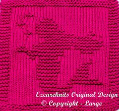 "Knitting Pattern for Mermaid Cloth - Finished Size: 7.75""W X 9″H"