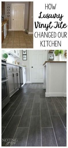 It took only 3 days and $400 to completely transform our kitchen with groutable Luxury Vinyl Tile.