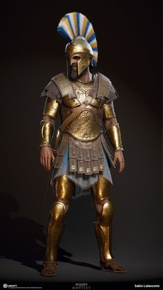 I did the sculpting, game mesh, baking, texture painting for the different versions of the Athenian Heavy Soldiers. Greek History, Ancient History, Ancient Rome, Ancient Greece, Greek Soldier, Roman Warriors, Greek Warrior, Spartan Warrior, Armadura Medieval