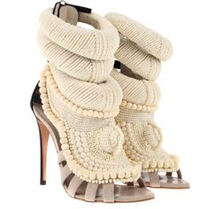 GIUSEPPE ZANOTTI x KANYE WEST Sandals - amazing texture and design set these heels apart. Wear with a winter white or pale pink skirt suit to really showcase these unique beauties
