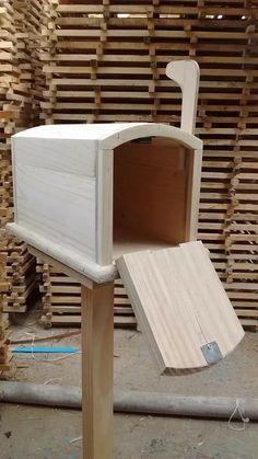 buzon para correo de madera decorativo