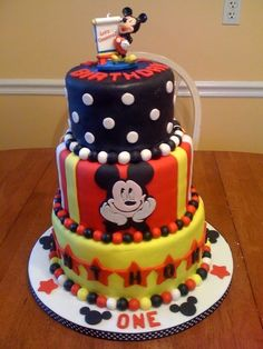 mickey mouse birthday party cake - Google Search