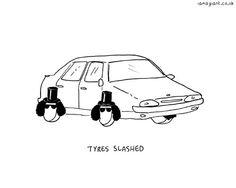 Tyres Slashed