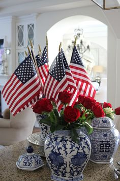 Patriotic party, patriotic decorations, of july celebration, Fourth Of July Decor, 4th Of July Celebration, 4th Of July Decorations, 4th Of July Party, July 4th, Table Decorations, Tables Tableaux, 4th Of July Images, Dyi