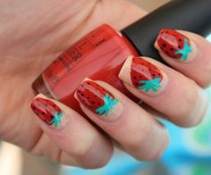 Going to try a rendition of this on short nails :)