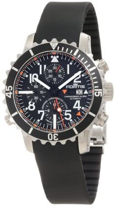 Fortis   Review Fortis Men's 673.10.41K B-42 Marinemaster Automatic Chronograph Black Dial Watch By Fortis