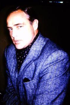 ●A candid of  Marlon Brando Circa 1965.