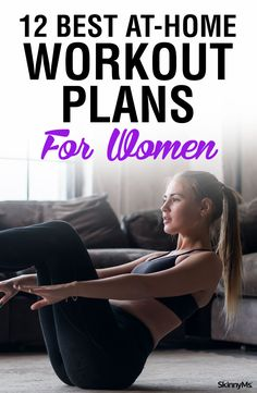 Workout Plan You can get a great workout in from just about anywhere! Try these 12 Best At-Home Workout Plans for Women to keep your fitness journey going! - Get fit from the comfort of your own home! Gym Workout Plan For Women, Best Workout Plan, Best At Home Workout, At Home Workout Plan, Workout Challenge, Workout Guide, Workout Ideas, Workout Inspiration, Cardio At Home