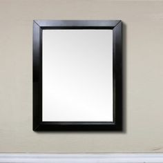 Images On Bellaterra Home M Inch Portrait Rectangle Wood Frame Bath Mirror