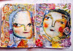 "Art journal page ""best friends"""