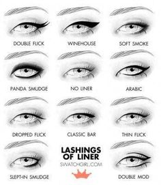 Photo: Different ways to wear your liner to change the look of your eye.