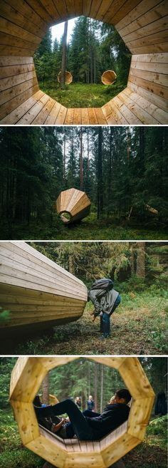If a Tree Falls in the Forest… These Megaphones Will Amplify Its Sound. Would you put these outside your rising barn? Risingbarn.com #Architecture #wood #design #awesome #megaphone #fun