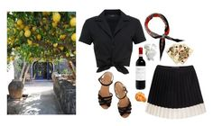 """Tarantella siciliana"" by anukij ❤ liked on Polyvore featuring Hallhuber, Bass, Hermès and FRUIT"