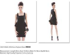 Euro Peplum Dress - RM40