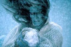 原田 美枝子 (Harada Mieko) as The Snow Fairy in  Akira Kurosawa's Dreams (1990)
