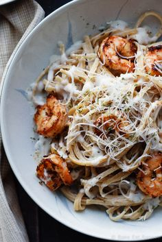 25 Healthy Pasta Recipes for a Quick and Easy Dinner is part of Shrimp alfredo pasta - These lighter versions of your favorite pasta recipes are even better than the originals Healthy Pasta Recipes, Healthy Pastas, Seafood Recipes, Dinner Recipes, Cooking Recipes, Chicken Recipes, Healthy Food, Lasagna Recipes, Ramen Recipes