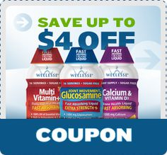 Save up to $4 on Wellesse Joint Movement Glucosamine