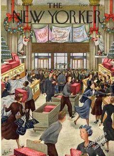 Constantin Alajalov Xmas Store New Yorker Cover (1949)