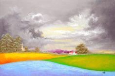 "Artwork 1414 ""Sunday Evening"" 102x67cms.  Painted 21/02/2014"