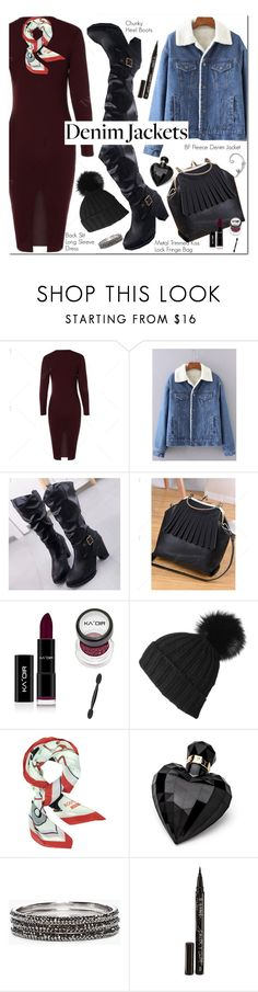 """Denim Jacket"" by oshint ❤ liked on Polyvore featuring Black, Moschino, Lipsy, Chico's and Smith & Cult"