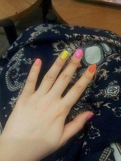 네온#Neon#gel nail#형광